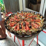 Our delicious final product: the best paella I have ever tasted.
