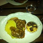 amazing kidneys with cauliflower soufle