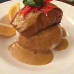 Salmon with Curry Jus