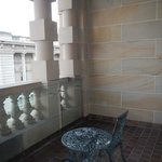 The balcony is beautiful and very comfortable, great place to meet friends and gather.