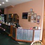 The restaurant bar as you enter