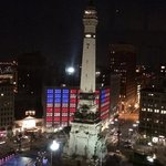 view from 19th floor over monument circle