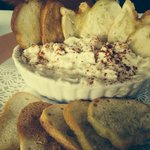 FRESH hot crabmeat dip and bread