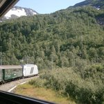 The train from Flam to Myrdal
