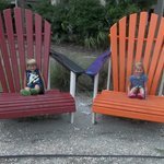 The kids loved the big chairs at the gift shop/store area!