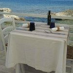 Our table by the sea