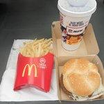 bad mushroom cheese burger and fries