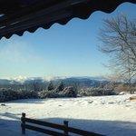 Aussicht aus dem Frühstückssaal im Februar