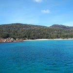 Looking at Wineglass Bay from the water