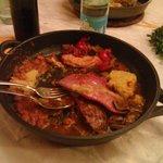 Secondo di carne (polenta, salsiccia, crauti ecc.)
