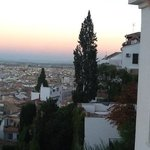 the view westwards from our room over Granada