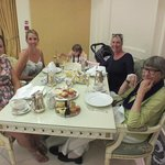 Four generations around the table:)