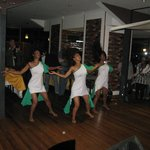 Dance Troupe entertain during meal