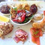 Seafood antipasto plate
