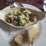 Gorgonzola mushrooms.