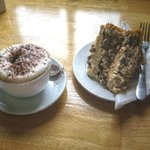 not good coffee and dry semi stale cake