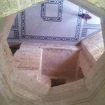 A look down through a central shaft