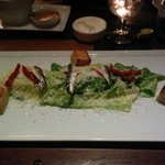 Ceasar Salad with white anchovies!