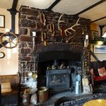 The Fireplace in the Bar area.