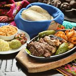 Family Style Feast - No Mas Fajitas made with marinated steak, chicken and shrimp, freshly made