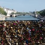 You must visit the bridge of locks, near the Notre Dame :D