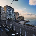 Morning view on the lungomare and Castel dell'Ovo