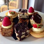 Cakes with afternoon tea