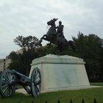 President Jackson statue at Lafayatte square.