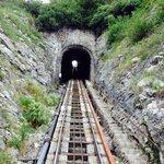 Avant l'entrée dans le tunnel