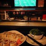The sushi bar at Mon's