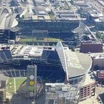 Close up of the stadiums from up top