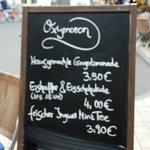 Menu at Oxymoron