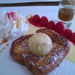Le dessert du chef (brioche façon pain perdu)