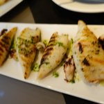 The grilled squid was perfectly prepared