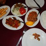 Delicious meze and grilled meats.