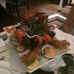 sumptious seafood platter