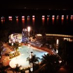 View of night time water pageant parade!