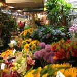 Floating flower market, just around the corner