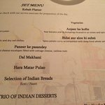 Indian Tasting Menu, Ayna at Hilton Chennai