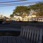 View of the Hyannis harbour from the patio.