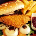 Spicy Chicken Burger with Chips