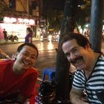 Street restaurant with Cuong