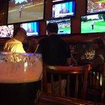 Lotsa big screens for watching sports
