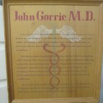 Plaque about Dr. Gorrie