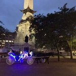 psychadelic horse and cart ride around the circle