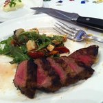 Roasted Pepper & Mozzeralla salad and steak