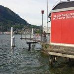 Lago de Lugano com vista para o que eles comparam ao Pão de Açúcar.