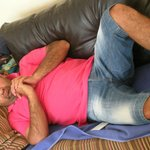 Metin (Michael) his normal pose fast asleep