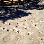 Limestone grinding holes