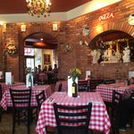 The colorful dining room at Pasta Jay's